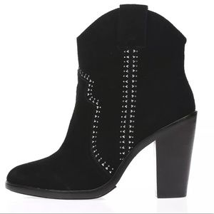 JOIE 'Monte' black suede studded booties